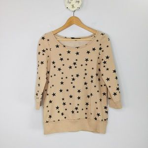 Truly Madly Deeply UO star scoop neck sweatshirt